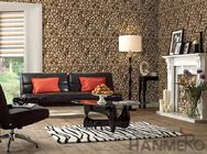 3D Stone Textured PVC Korea Design Wallpaper 1.06M for Home Office Decoration
