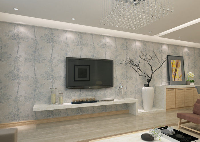 Symmetrical Tree Pattern Contemporary Modern Removable Wallpaper, Modern House Wallpaper