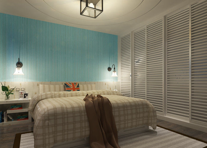 Waterproof Home Decoration Wallpaper , Removable Vinyl Contemporary Wall Coverings