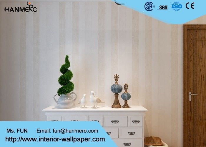 Household Office Hotel Modern Removable Wallpaper With Simple Stripes Pattern