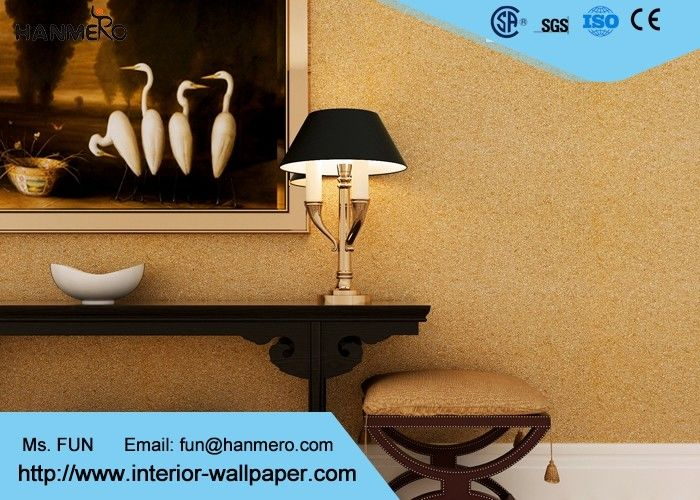 Modern Strippable Living Room Wallpaper with Natural Vermiculite Particles Material