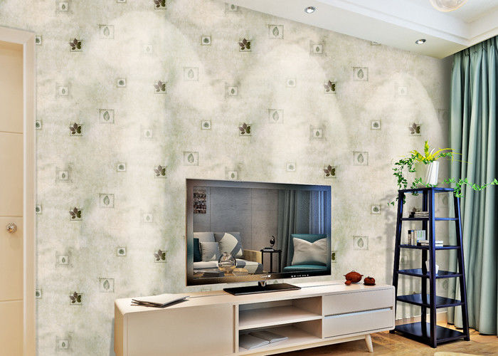 Removable Non Woven Living Room Wallpaper 0.53*10m with American Style , SoundProof