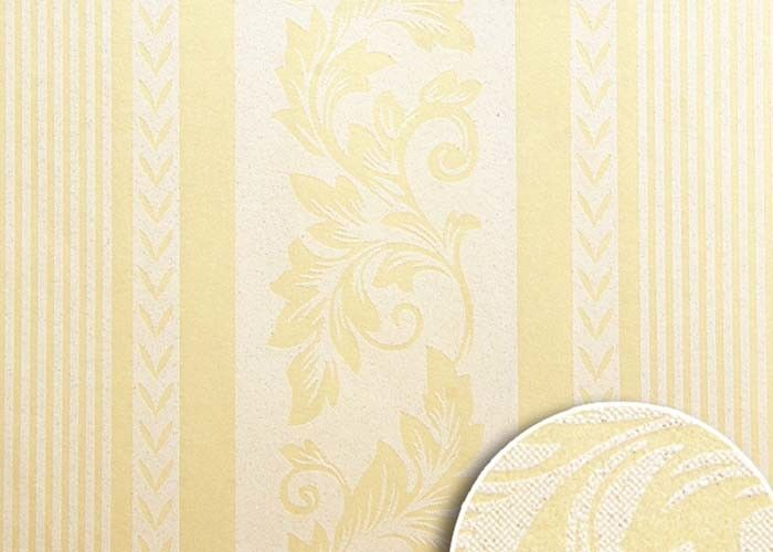 Natural Materials Low Price Wallpaper , Yellow Striped Wallpaper For Living Rooms