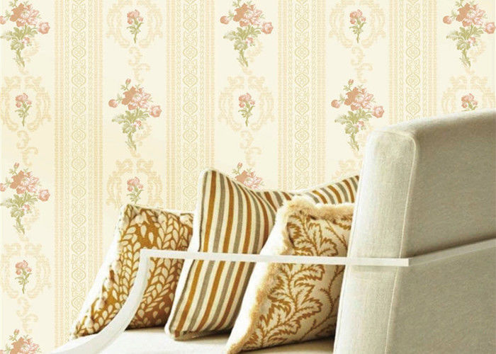 Flowers Design Low Price Wallpaperwall For Home Decoration , Embossed Surface