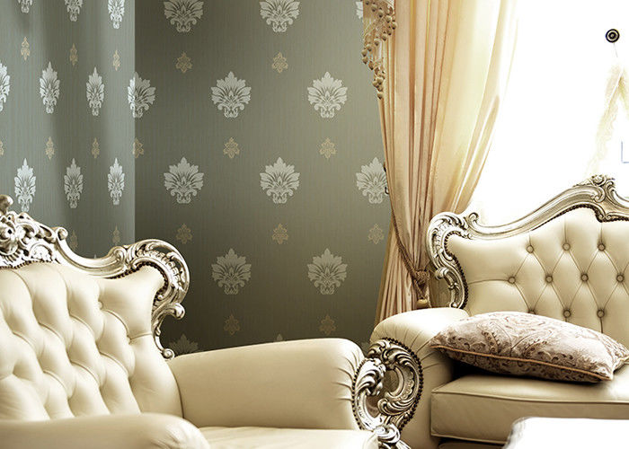 1.06 Korean Living Room Modern Wallpaper , Non Woven Wide Width Wallpaper Breathable