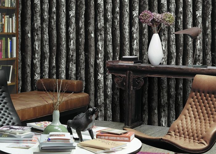 3D Tree Pattern Vintage Asian Inspired Wallpaper , High Grade decorative wallpapers for walls