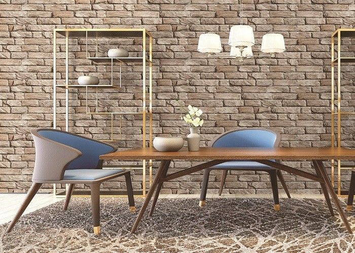 3D Retro Antique Culture Brick Living Rooom Wallpaper 10M One Roll With Good Looking