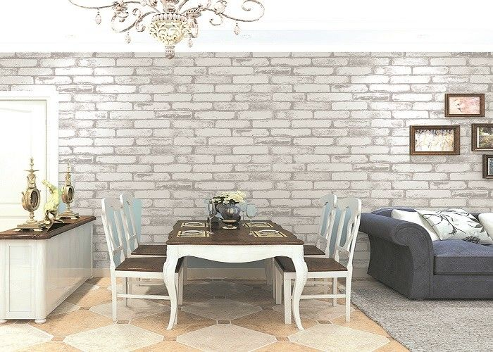 Natural Plant Fibers 3D Brick Wallpaper Old Industrial Fresco Living Room Bakery Hot Pot Shop Brick Wallpaper
