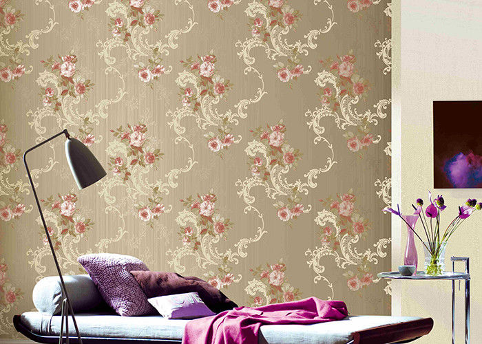 Flower Pattern American Vintage Country Style Wallpaper 0.53*9.5M