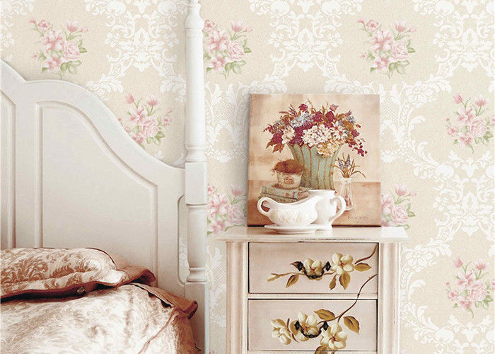 Flowers Damask Printing Concise European Country Style Wallpaper 0.53*9.5M