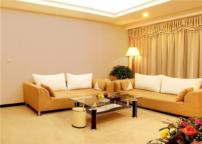 White / Beige Home Decor Wallpape , Sofa Background Velvet Textured Wallpaper