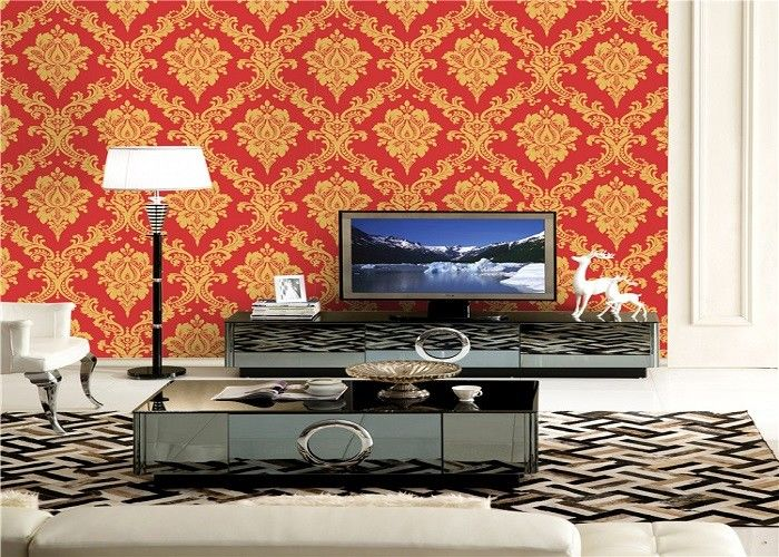 Beautiful Sound Absorbing Three Dimensional Low Price Wallpaper For Home / Business