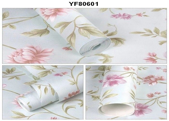 Eco - Friendly Custom Strippable Self Adhesive Wallpaper For Sofa Background