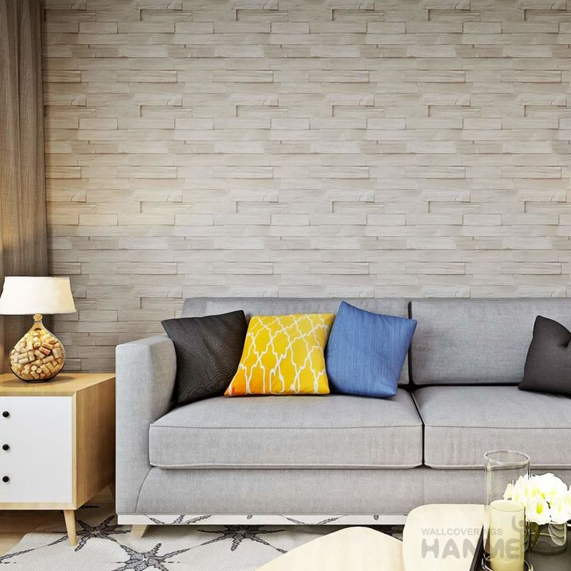 3D Brick Effect Contemporary Style Vinyl Wall Covering 0.53*10M